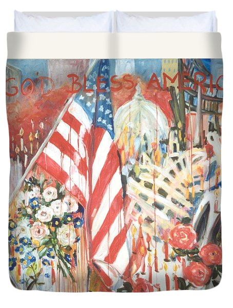 9-11 Attack Duvet Cover