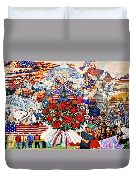9/11 Memorial Towel Version Duvet Cover