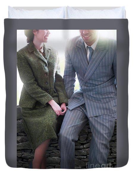 1940s Couple Duvet Cover by Lee Avison