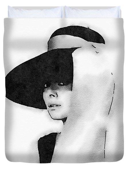 Audrey Hepburn Duvet Cover by John Springfield