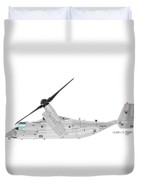 Bell-boeing Mv-22b Osprey Duvet Cover by Arthur Eggers