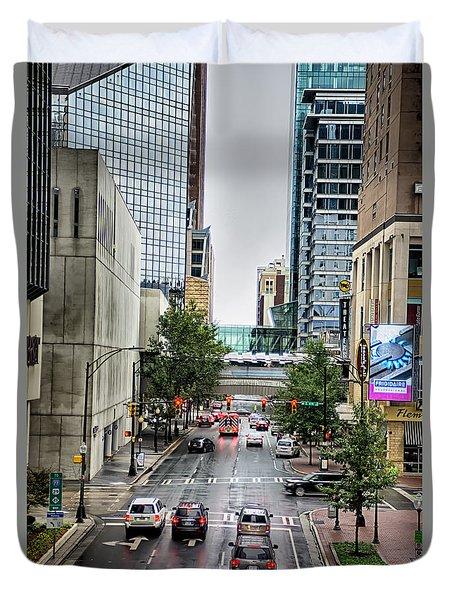 Charlotte North Carolina Views Around  Downtown Duvet Cover
