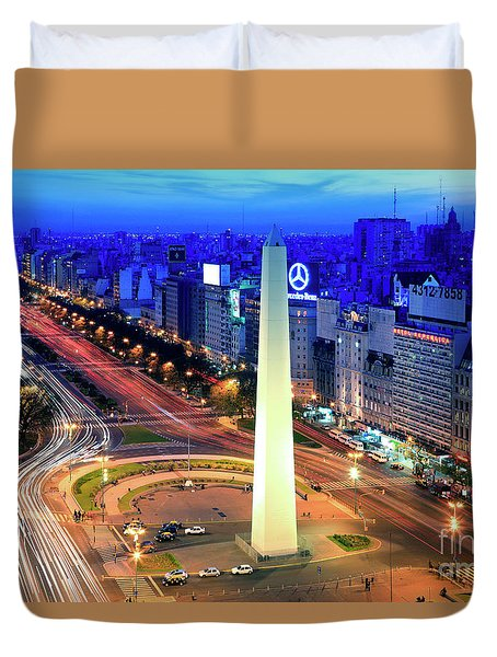 9 De Julio Avenue Duvet Cover by Bernardo Galmarini