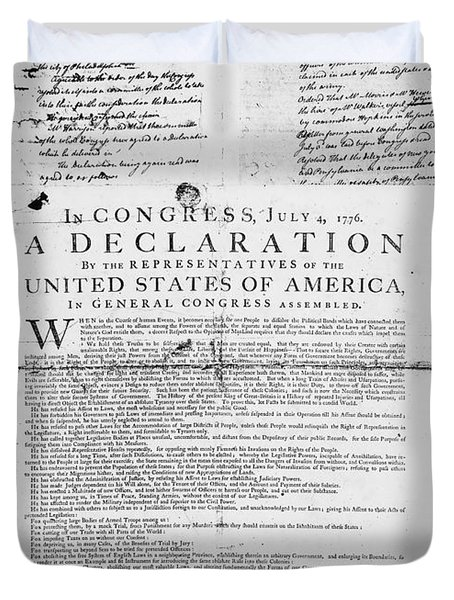Declaration Of Independence Duvet Cover by Granger