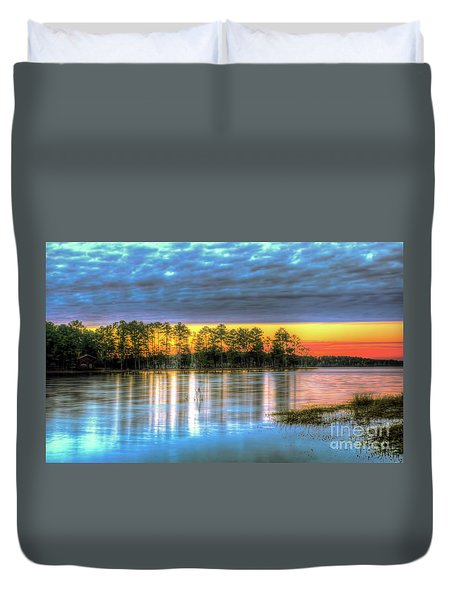 Duvet Cover featuring the photograph Flint Creek by Maddalena McDonald