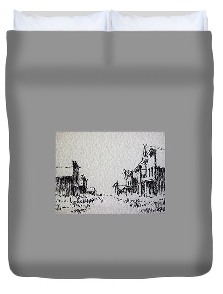 Ghost Town Duvet Cover by Kevin Heaney
