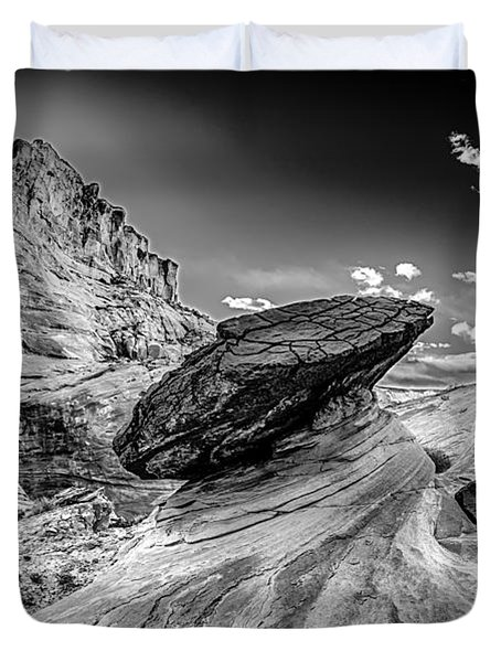 Hoodoos At Stud Horse Point In Arizona Duvet Cover by Alex Grichenko