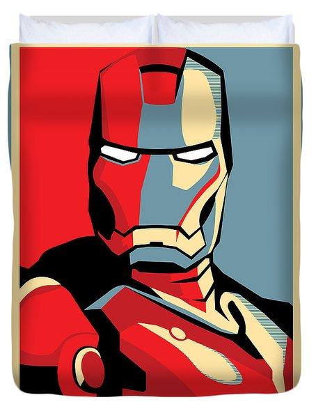 Iron Man Duvet Cover by Caio Caldas
