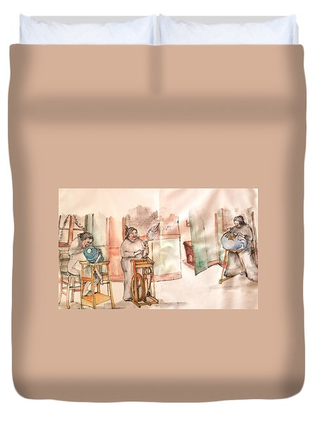 Italy The Red And Green Album  Duvet Cover