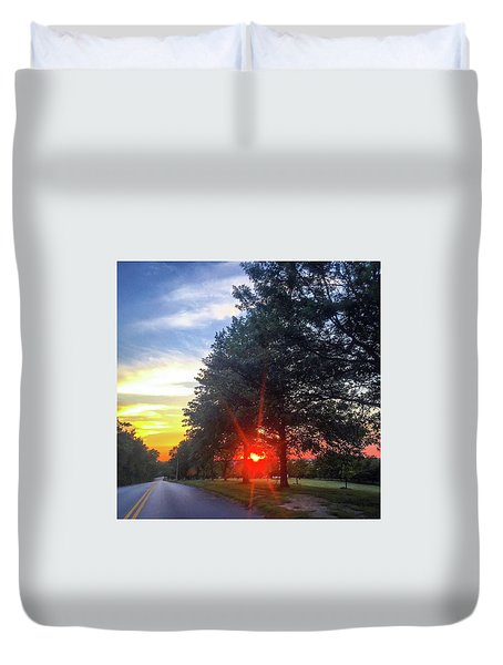Duvet Cover featuring the photograph 9 June 16 Rowing Club by Toni Martsoukos
