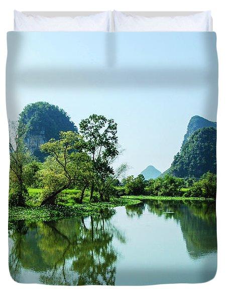 Karst Rural Scenery Duvet Cover