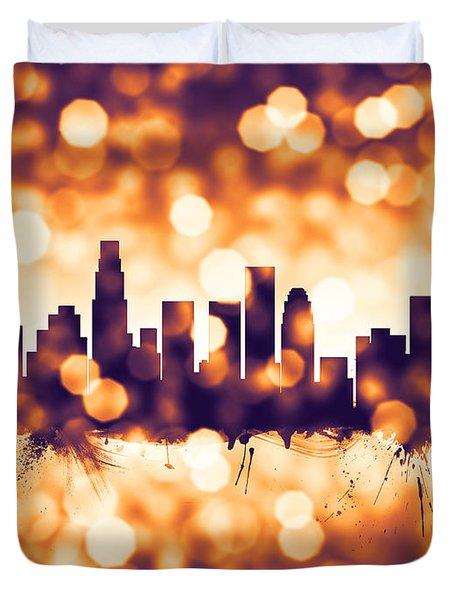 Los Angeles California Skyline Duvet Cover
