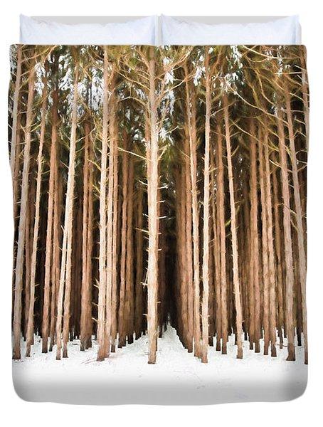 Michigan Winter Duvet Cover