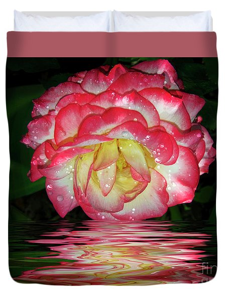 Nice Rose Duvet Cover by Elvira Ladocki