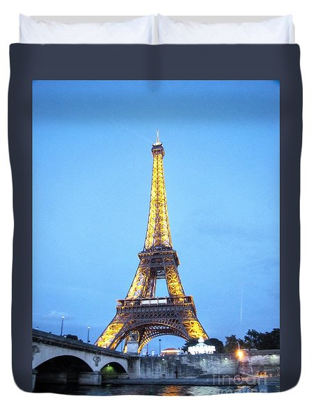 Duvet Cover featuring the pyrography Paris  by Yury Bashkin