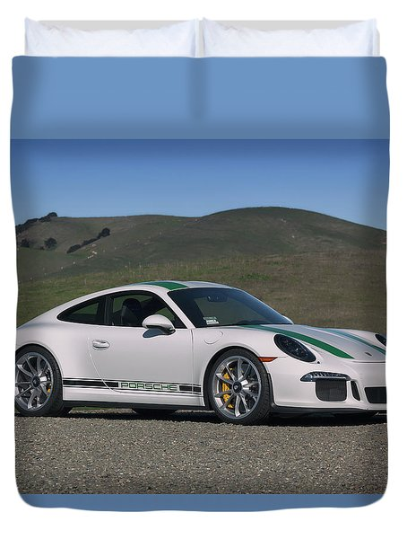 Duvet Cover featuring the photograph #porsche #911r #print by ItzKirb Photography