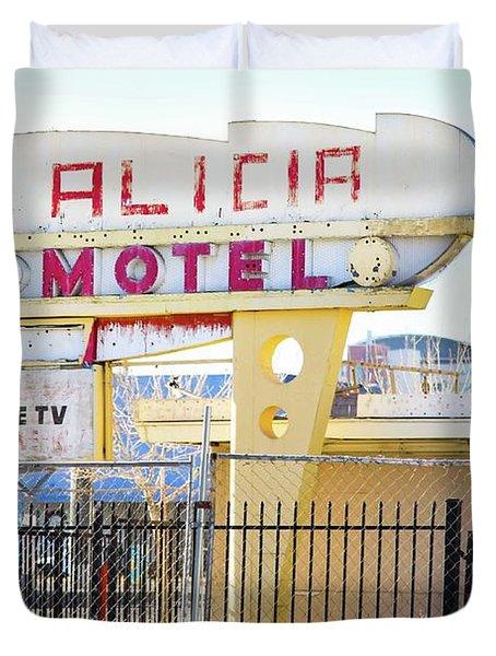 Remnants Of Vintage Vegas Duvet Cover