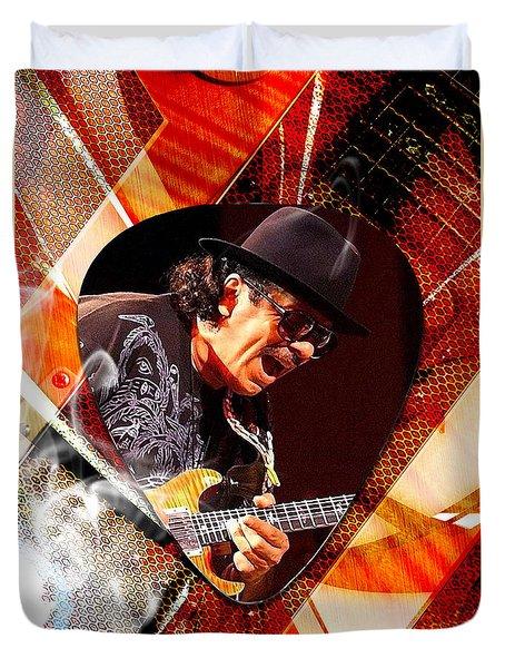 Santana Art Duvet Cover by Marvin Blaine