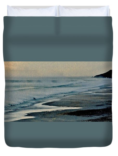 Stormy Morning At The Sea Duvet Cover