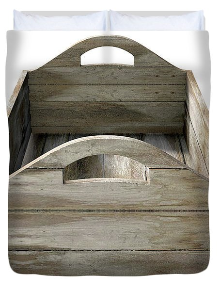 Wooden Carry Crate Duvet Cover