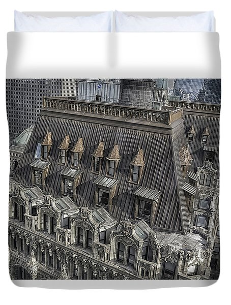 90 West - West Street Building Duvet Cover
