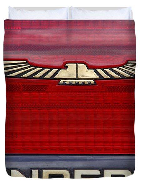 90s Thunderbird Duvet Cover