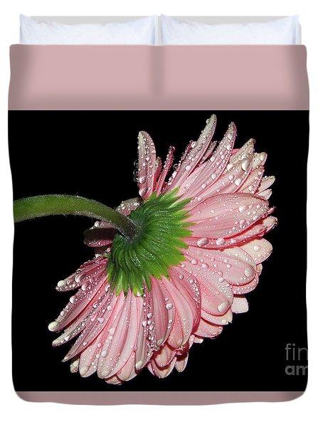 Pink Gerber Duvet Cover