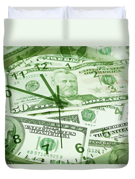 Duvet Cover featuring the photograph Time Is Money  by Les Cunliffe