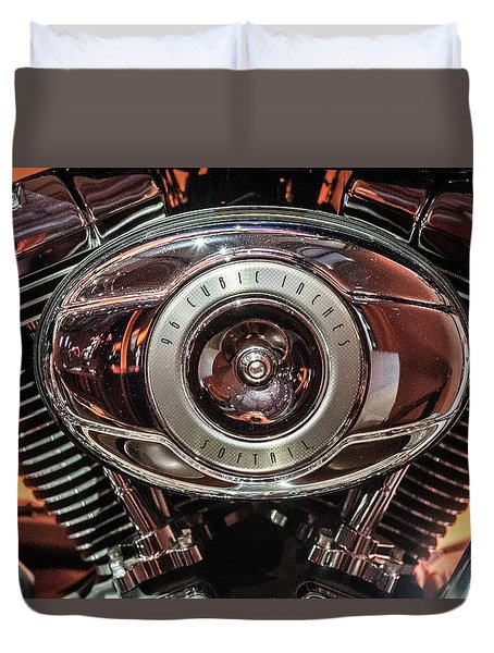 Duvet Cover featuring the photograph 96 Cubic Inches Softail by Randy Scherkenbach