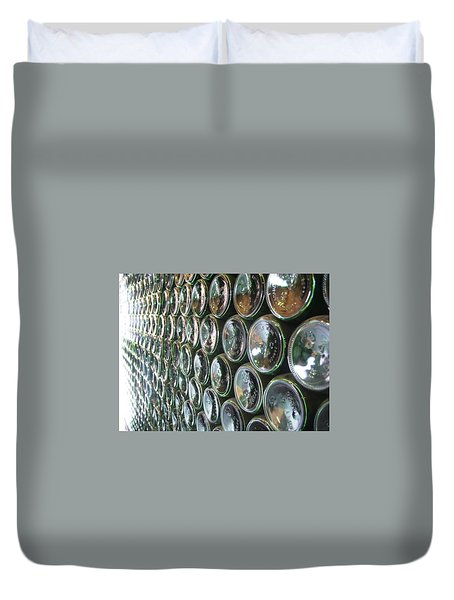 Duvet Cover featuring the painting 99 Bottles Of Beer On The Wall... by Martha Ayotte
