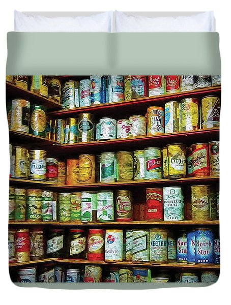 99 Cans Of Beer On The Wall Duvet Cover