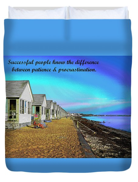 Motivational Quotes Duvet Cover