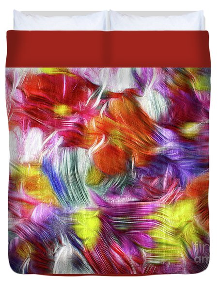 9a Abstract Expressionism Digital Painting Duvet Cover