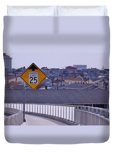 9th Street In Duvet Cover by John Wartman