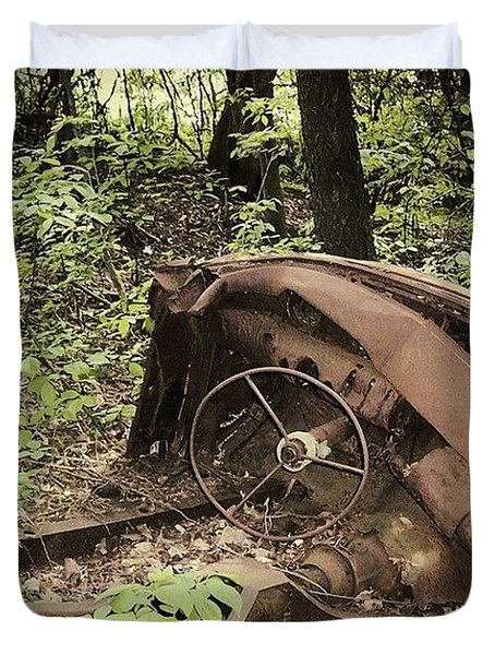 Abandoned 50s Classic.... Duvet Cover
