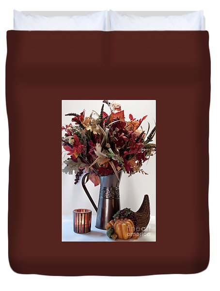 A Autumn Day Duvet Cover by Sherry Hallemeier