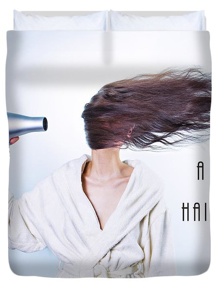 A Bad Hair Day Duvet Cover