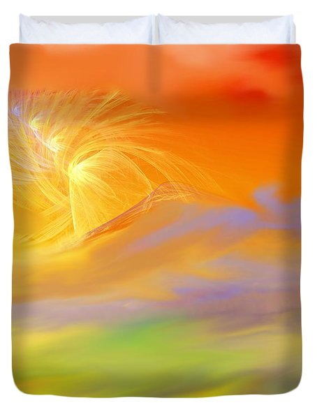 A Band Of Angels Coming After Me Duvet Cover