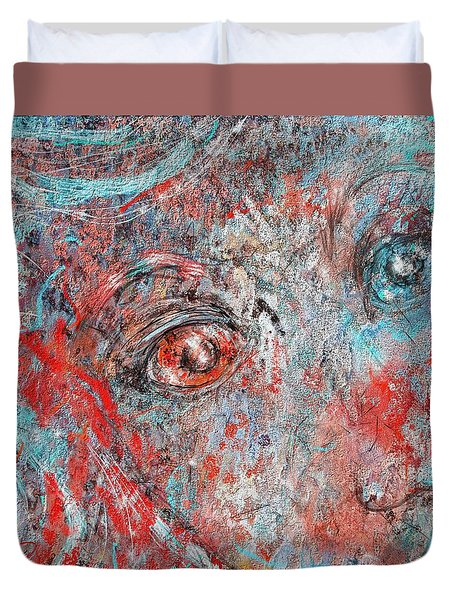 A Bare And Broken Rocky Face Duvet Cover