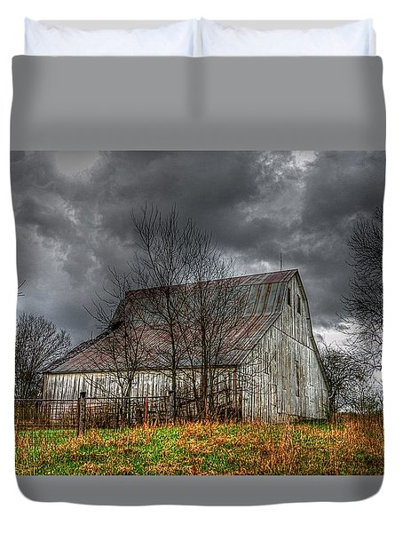 A Barn In The Storm 3 Duvet Cover by Karen McKenzie McAdoo