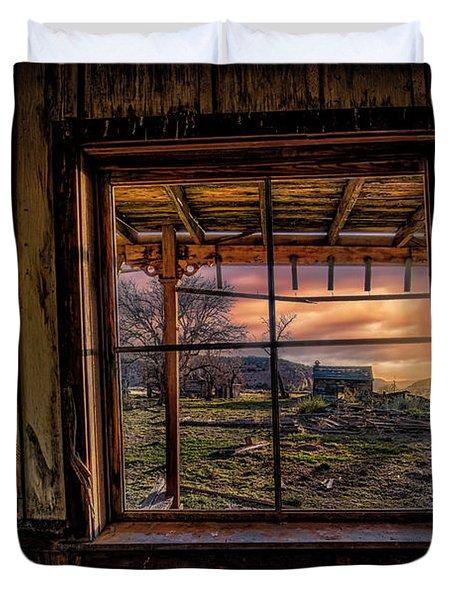 A Barn View Duvet Cover
