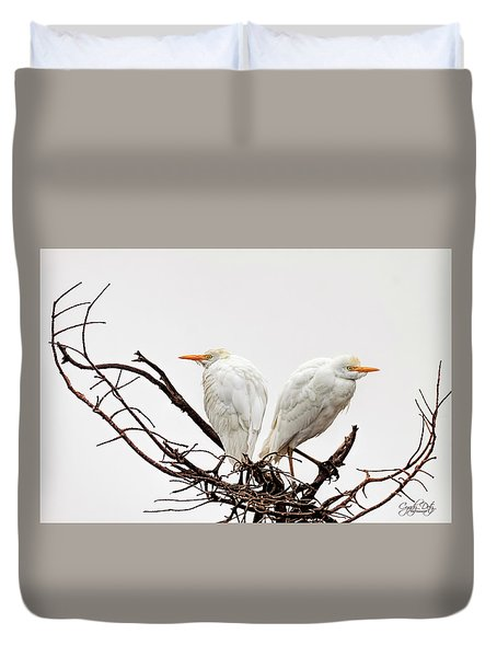 A Basket Of Anger Duvet Cover by Cyndy Doty