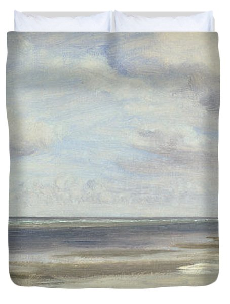 A Beach On The Baltic Sea At Laboe Duvet Cover by Jacob Gensler