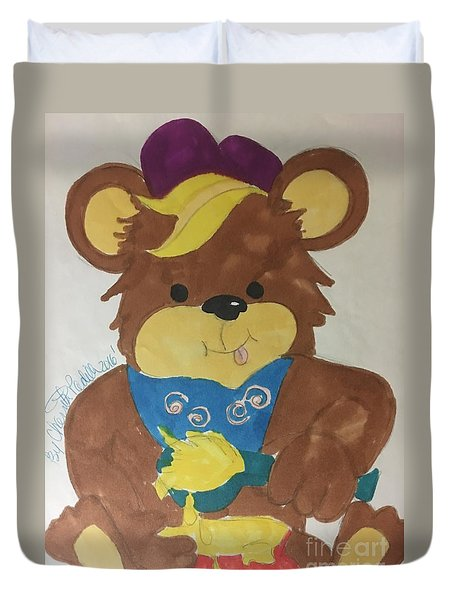 A Bear Loves Honey Duvet Cover