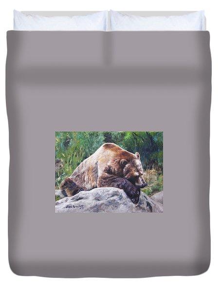 A Bear Of A Prayer Duvet Cover