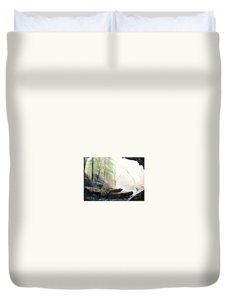 A Bears View Duvet Cover by Gail Kirtz