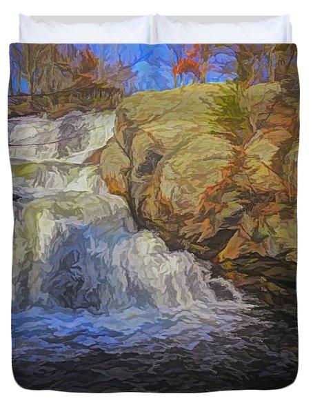 A Beautiful Connecticut Waterfall. Duvet Cover