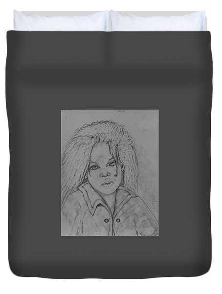 Wistful, The Drawing. Duvet Cover