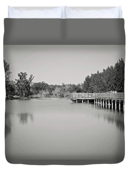 Duvet Cover featuring the photograph A Beautiful Day by Kim Hojnacki
