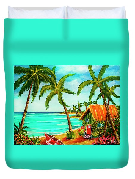A Beautiful Day  Oahu #357 Duvet Cover by Donald k Hall